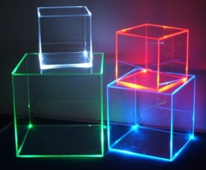 Led Display Box Retail Light Cube Exhibition Stand